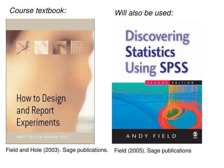 Course textbook: