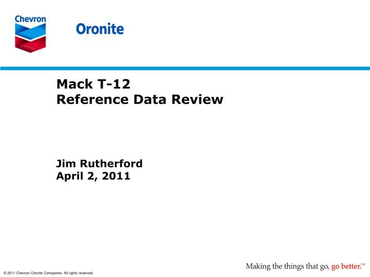 mack t 12 reference data review n.