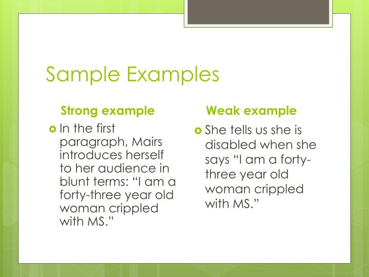 Sample Examples
