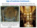 age of justinian continued