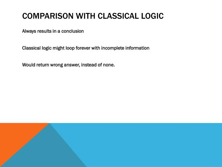 Comparison with Classical Logic