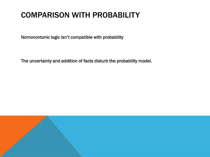 Comparison with Probability