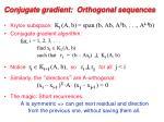conjugate gradient orthogonal sequences