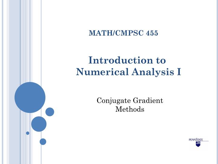 introduction to numerical analysis i n.