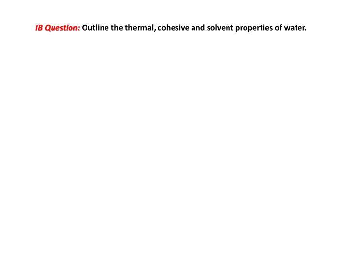 IB Question: