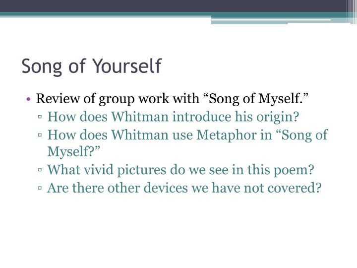 Song of Yourself