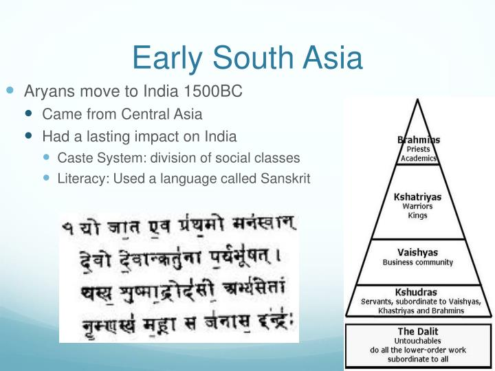 Early South Asia