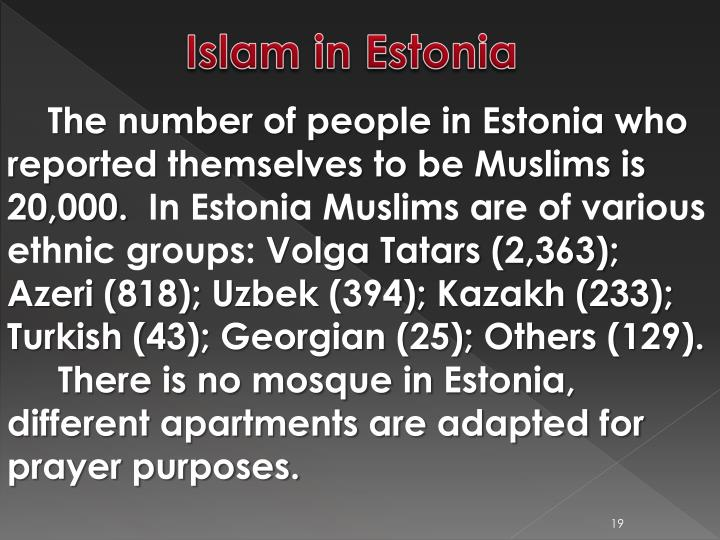 Islam in Estonia