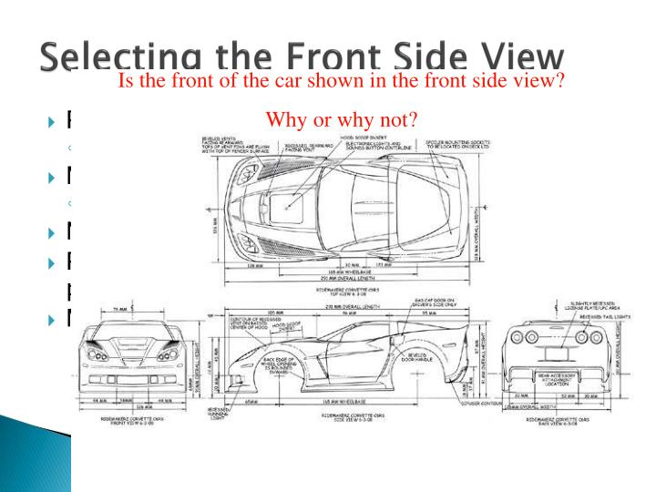 Selecting the Front Side View