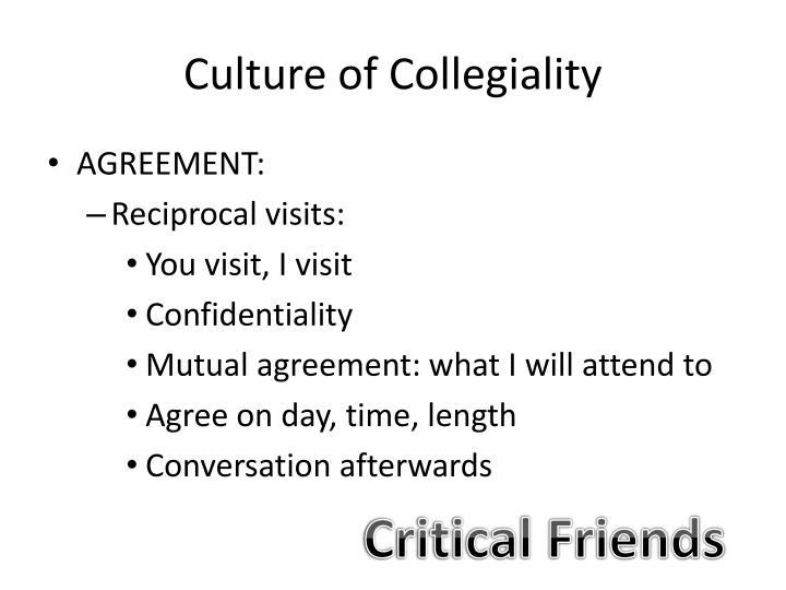 Culture of Collegiality