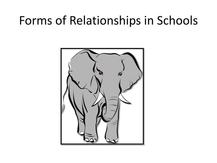 Forms of Relationships in Schools