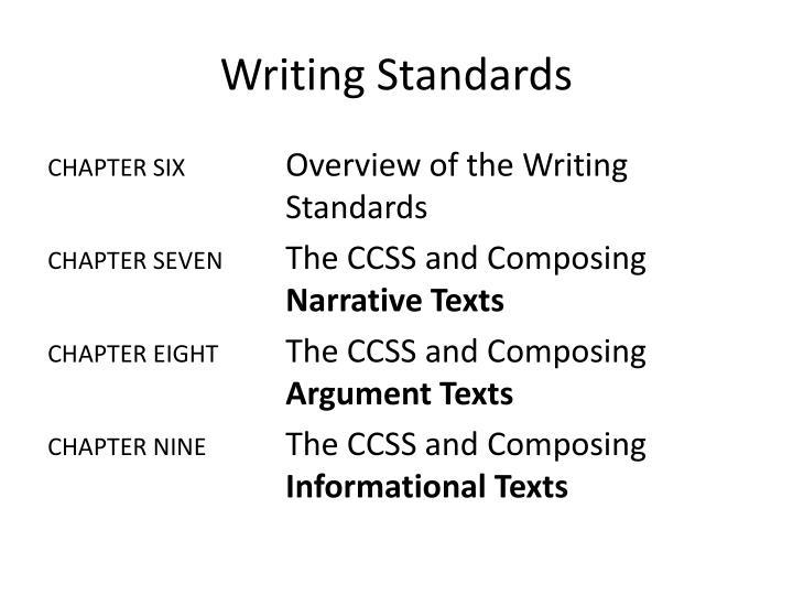 Writing Standards