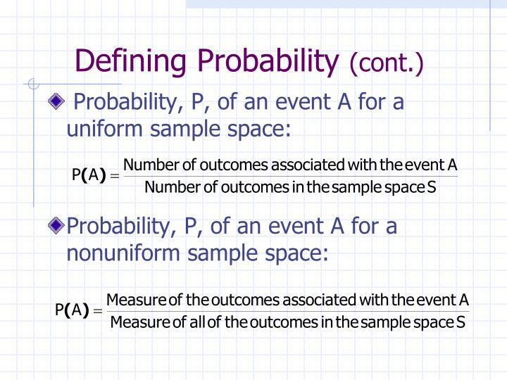 Defining Probability
