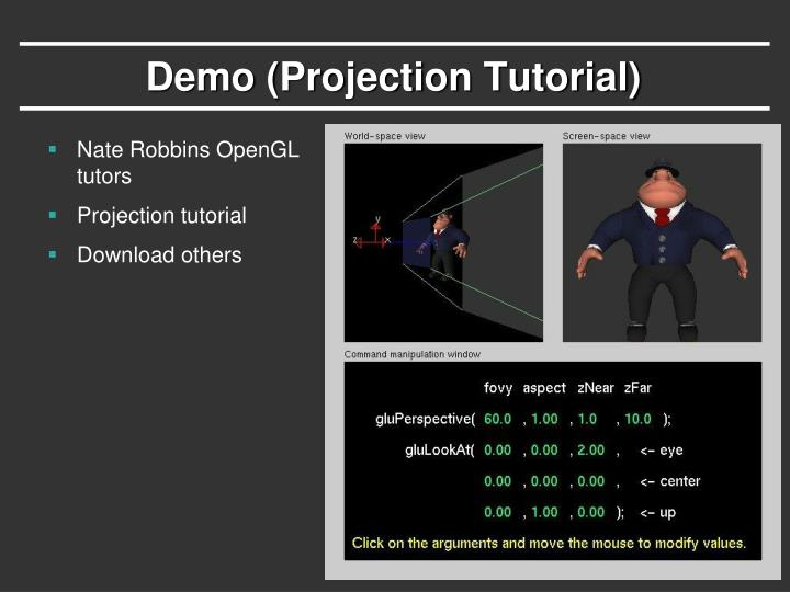 Demo (Projection Tutorial)