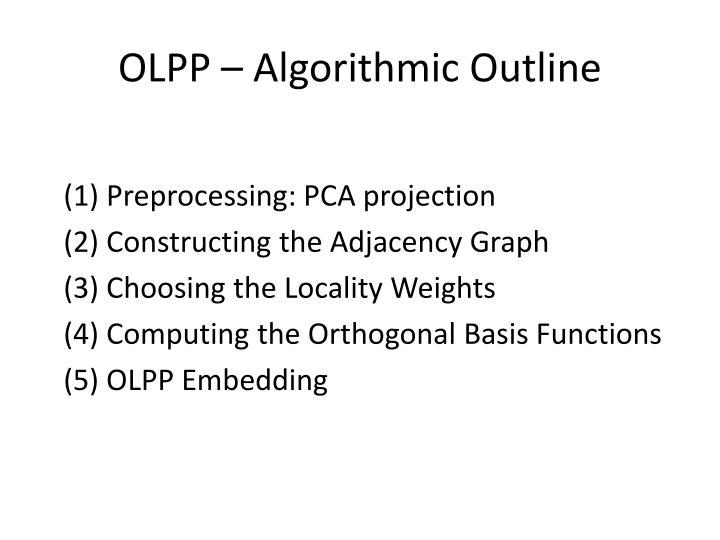 OLPP – Algorithmic Outline