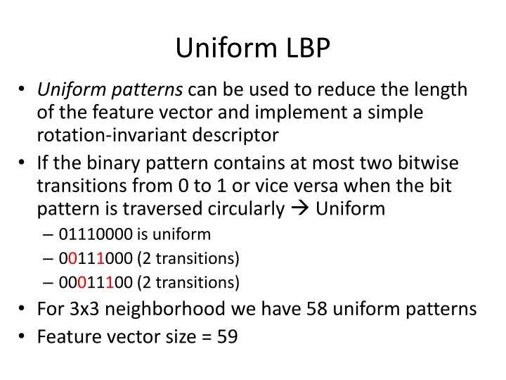 Uniform LBP