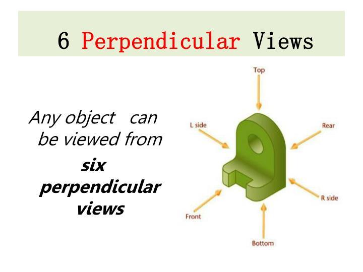 6 perpendicular views