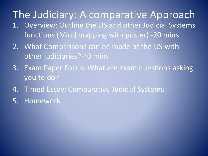 The judiciary a comparative approach