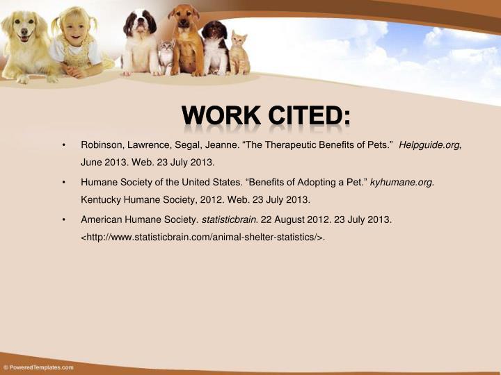 Work cited: