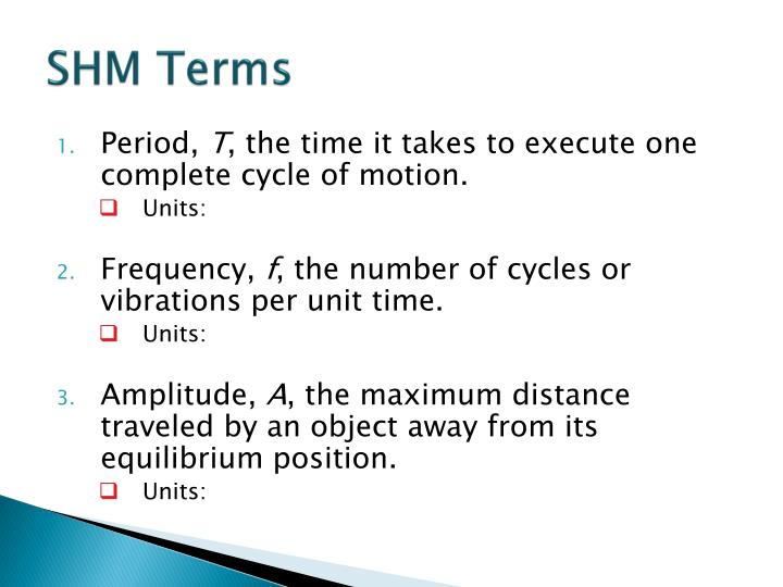Shm terms