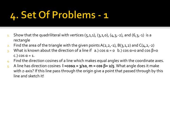 4. Set Of Problems - 1