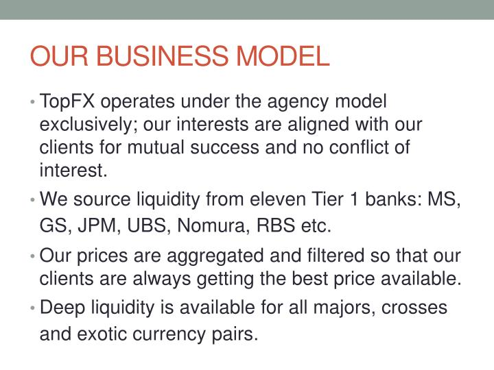 Our business model
