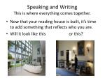 speaking and writing this is where everything comes together