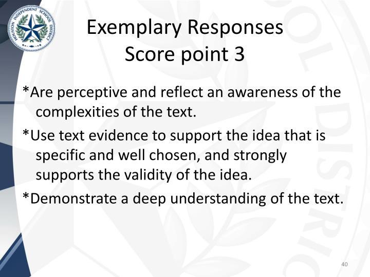 Exemplary Responses
