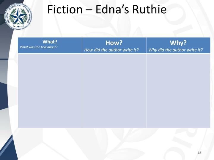 Fiction – Edna's Ruthie