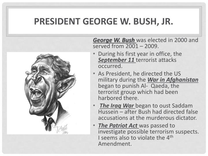 President george w bush jr