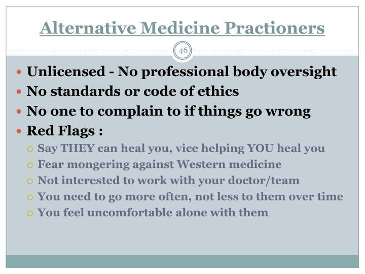 Alternative Medicine Practioners