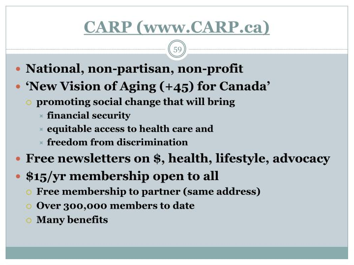 CARP (www.CARP.ca)