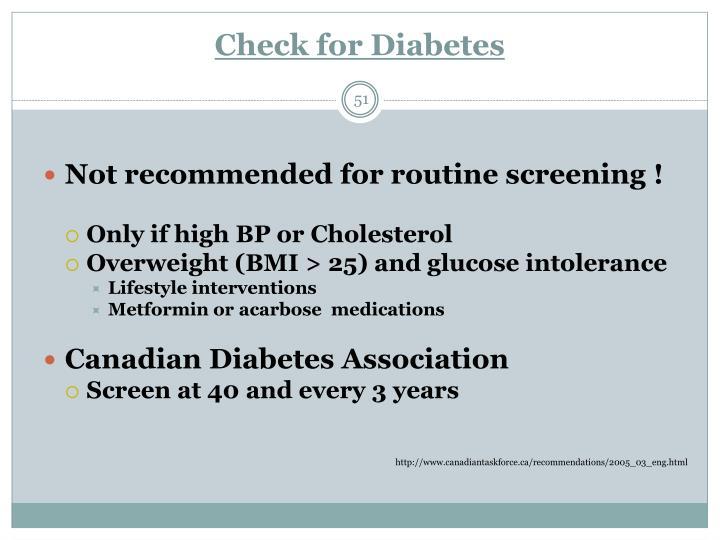 Check for Diabetes