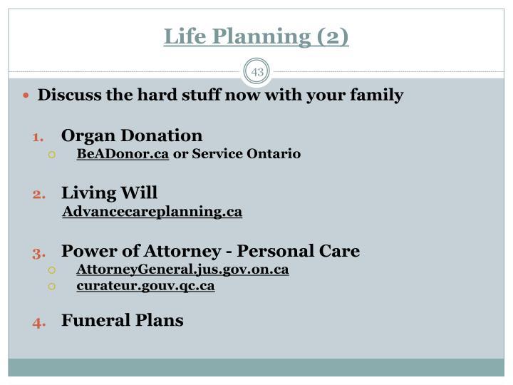 Life Planning (2)