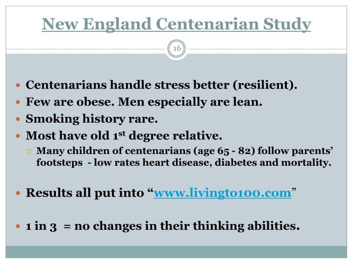 New England Centenarian Study