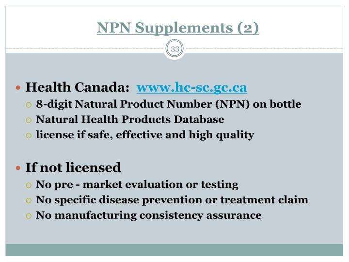 NPN Supplements (2)
