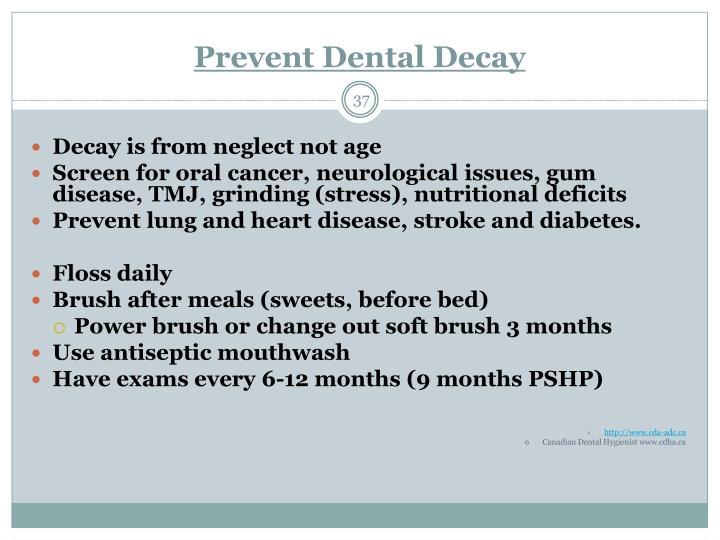 Prevent Dental Decay
