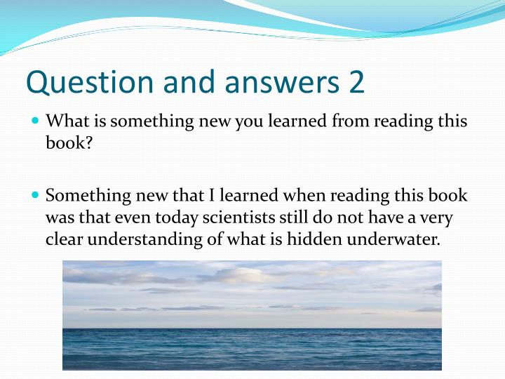 Question and answers 2