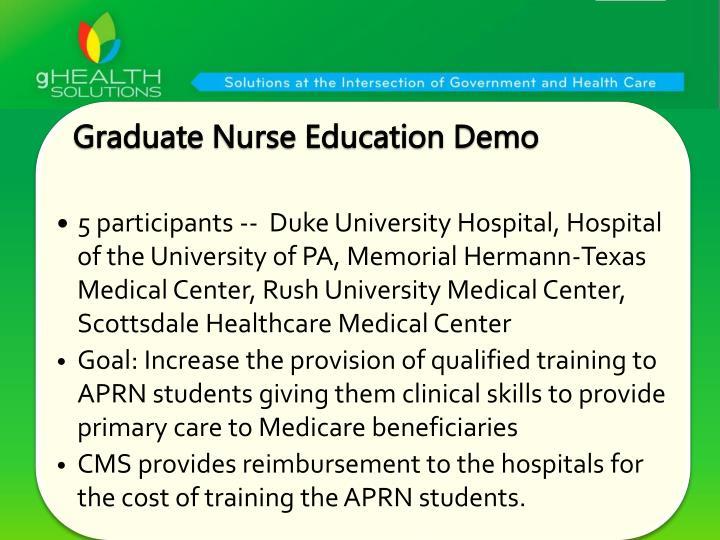 Graduate Nurse Education Demo