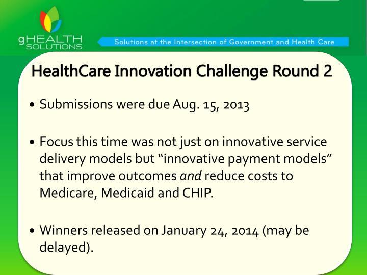 HealthCare Innovation Challenge Round 2