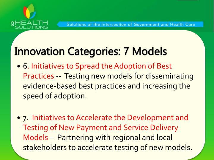 Innovation Categories: 7 Models