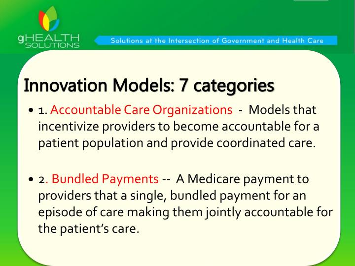 Innovation Models: 7 categories