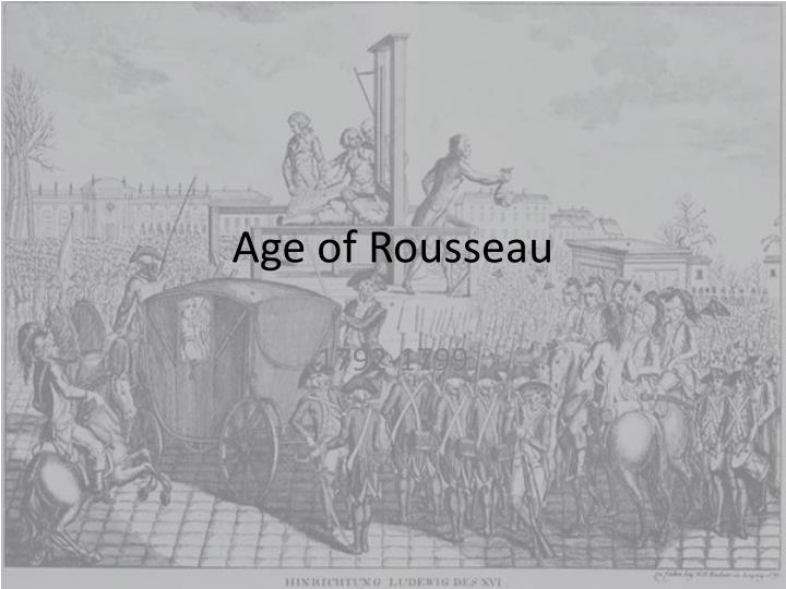 Age of rousseau