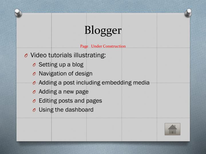 Blogger page under construction