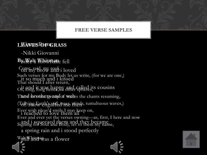 Free Verse Samples
