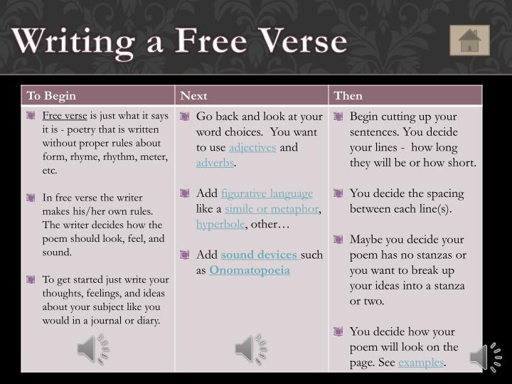 Writing a Free Verse