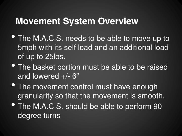 Movement system overview
