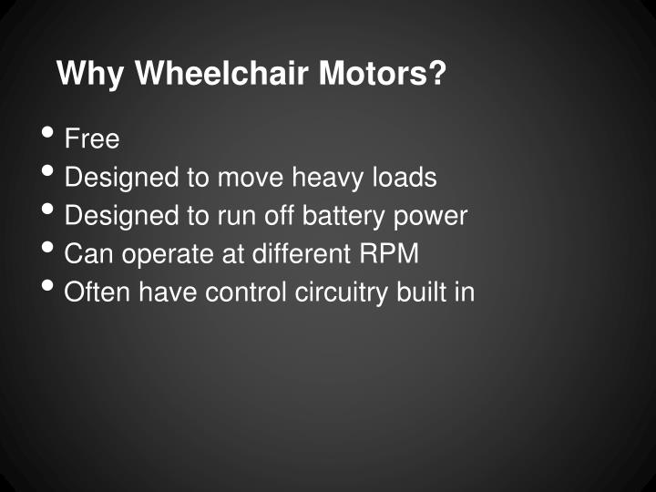 Why Wheelchair Motors?