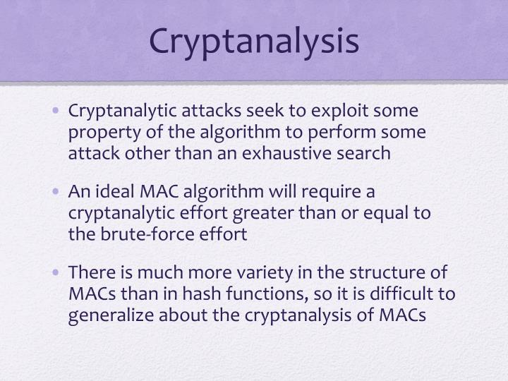 Cryptanalysis