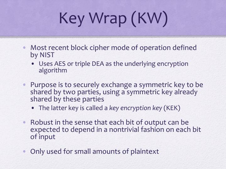 Key Wrap (KW)